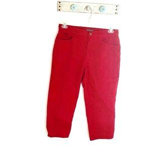 Ralph Lauren size 8 Red Crooped Pants Capris